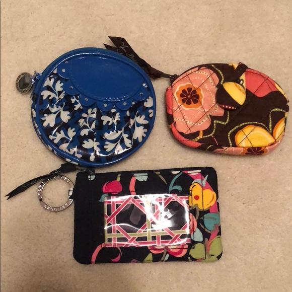 Vera Bradley Handbags - Set of 3 Vera Bradley Change Purses